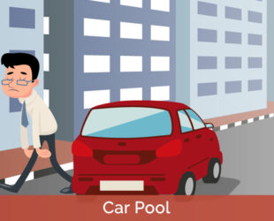 "SOCYTEA helps you to register or find ""carpool"" offered by your trusted neighbors"